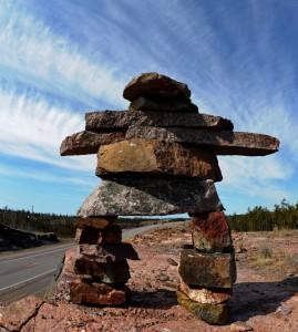 inukshuk stone statue